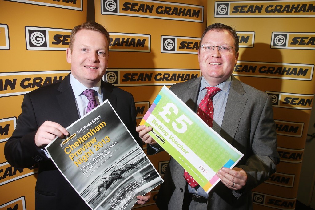 FESTIVAL FEVER: Ronan and Brian Graham get together to launch the now famous Sean Graham Cheltenham Preview Night. The date: Monday, March 4. The venue: The Europa. It's not be missed if you're serious about racing – tickets available in Sean Graham shops