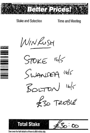 NEW BET: Local punter won £2,010 on his Winrush