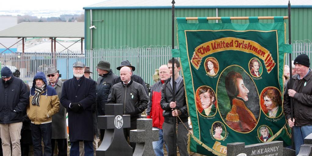 Official Republican Movement ceremony at Milltown