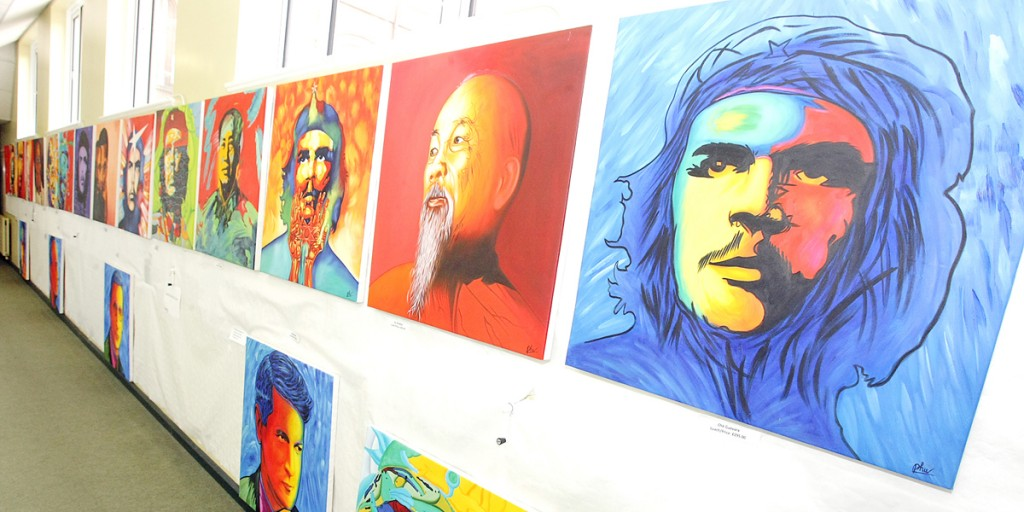 Political icons by Phu at St Mary's