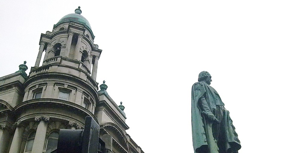 The statue of the Black Man in Belfast city centre