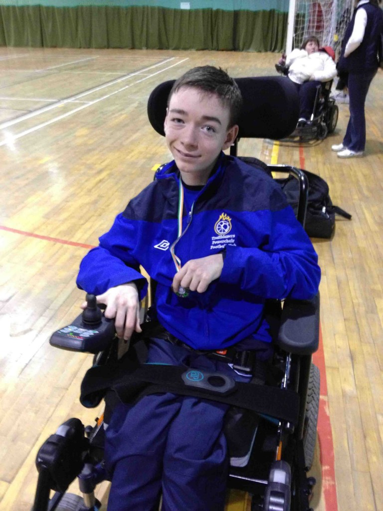 Carl McVeigh, who will represent Ireland at the European Powerchair Championships