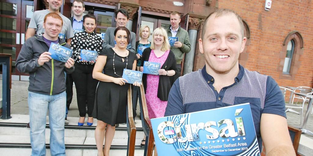 Feargal Mac Ionnrachtaigh helps launch Cúrsaí