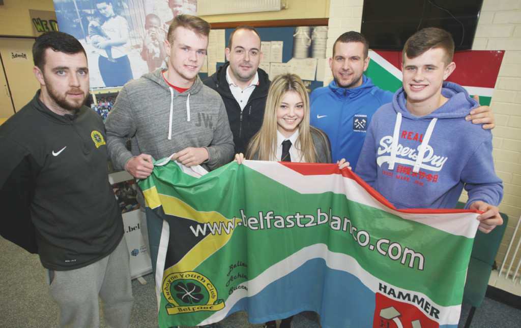 Young people and mentors from Shankill and Ardoyne who are on their way today to do vital work in South Africa