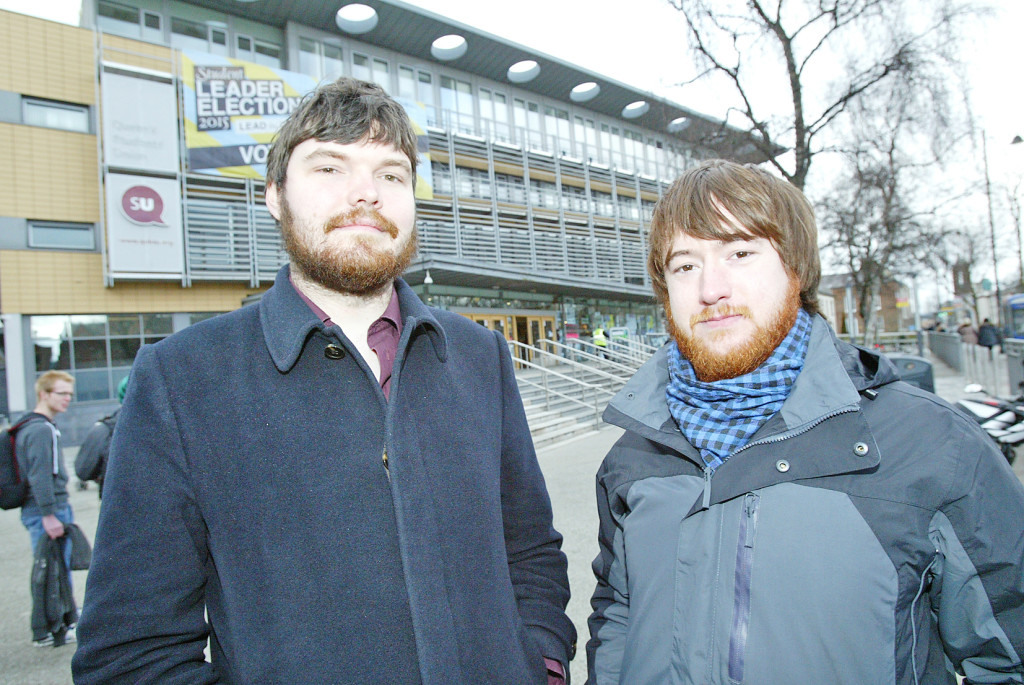 Ciaran Gallagher and Eóin Dawson, who'll be taking part in the student strike