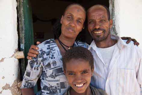 The Hailu family have seen their lives transformed with the support of Trócaire     Pic by Sarah Hunter