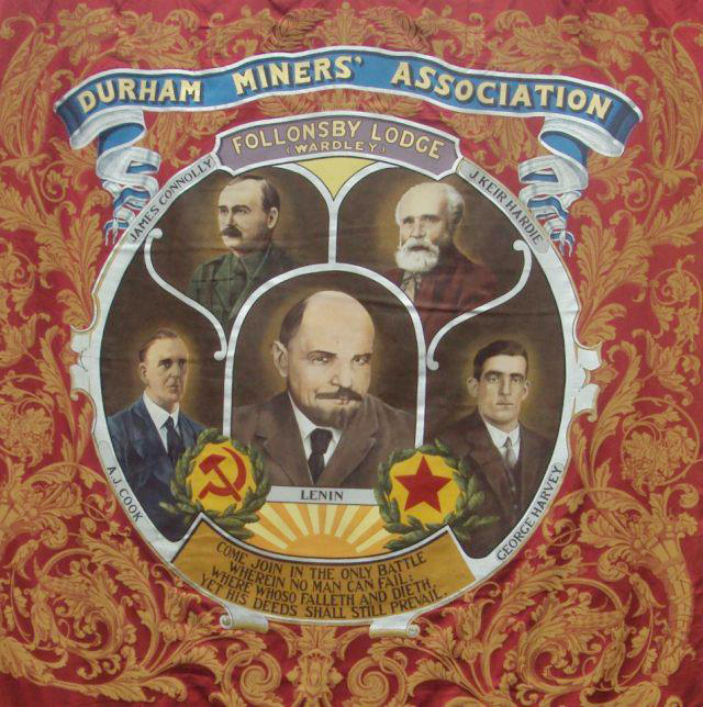 The image of James Connolly on the Follonsby banner was so controversial that it was eventually removed – now it's back