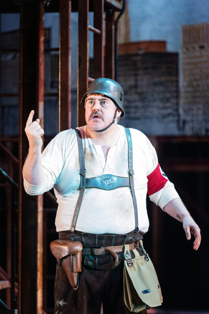 Phil Jupitus plays Franz Liebkind, a Hitler-loving fanatic who's also a pigeon-fancying playwright