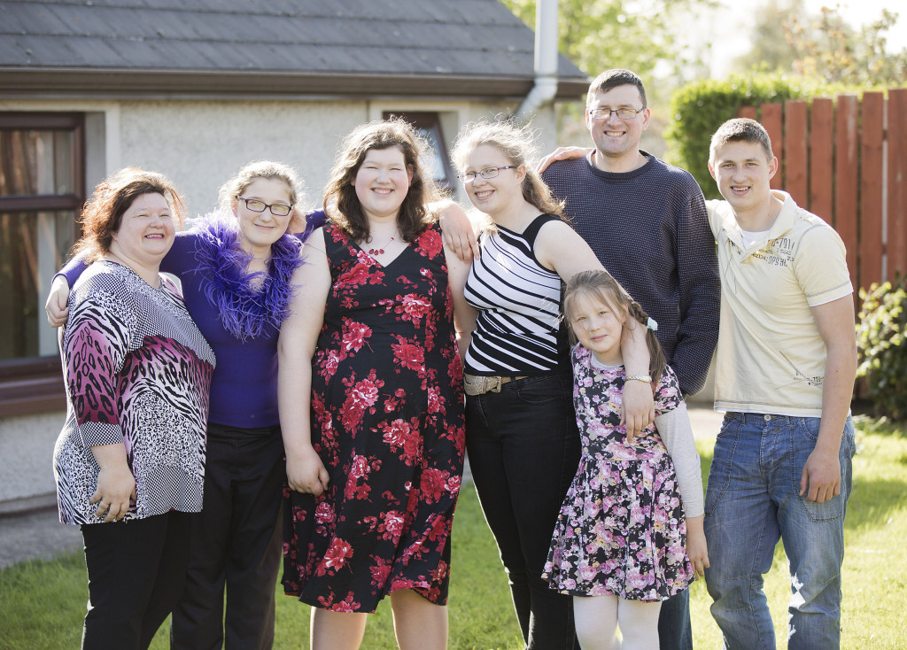 Anita (l) and her daughter Sara (third from left), along with the rest of the Gulbe family, have benefited from the support of Brain Injury Matters