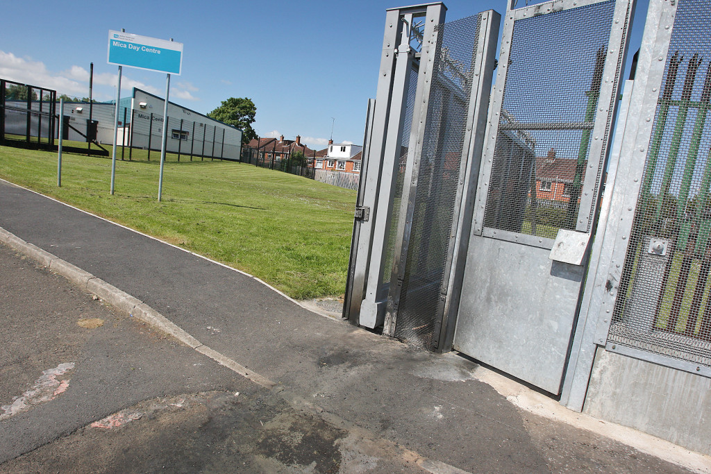 The gates around Mica Drive Day Centre have been recently vandalised. 1106mj15