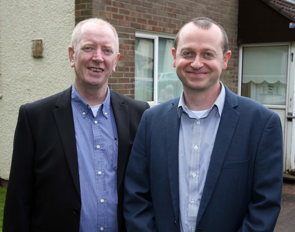 Paul Crawford (left), manager of the Hope centre, with Paul-Damian Hughes, team leader with the Stewartstown Community Mental Health Team