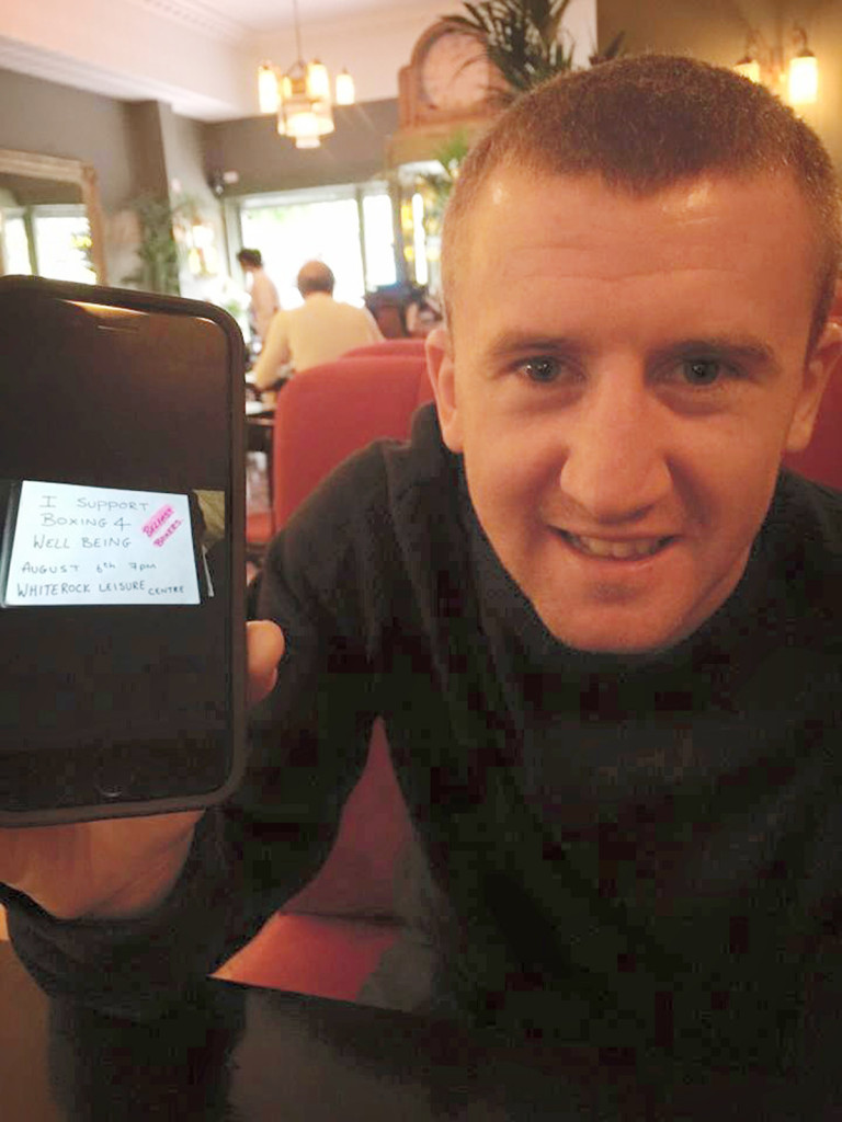 Paddy Barnes supports Boxing For Wellbeing