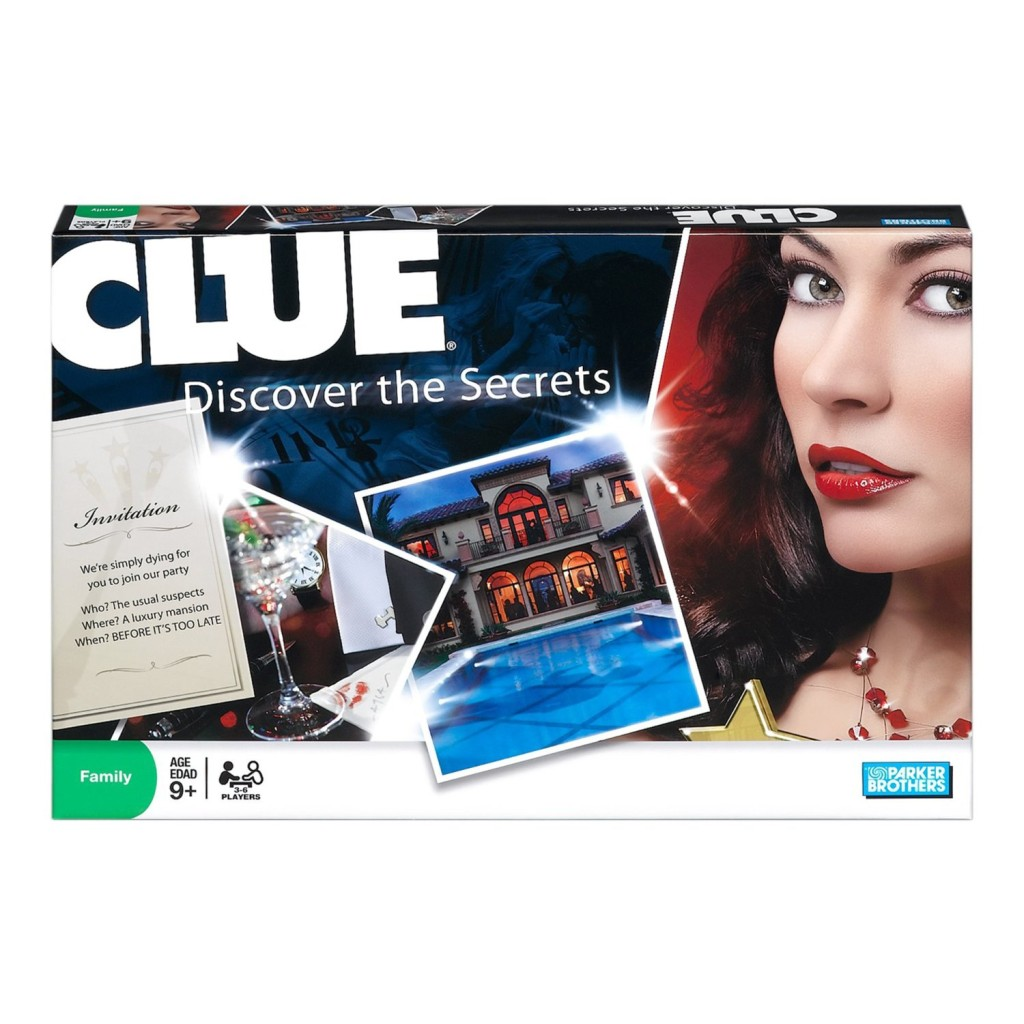 The Cluedo box looks rather different today from when Squinter played it round the kitchen table