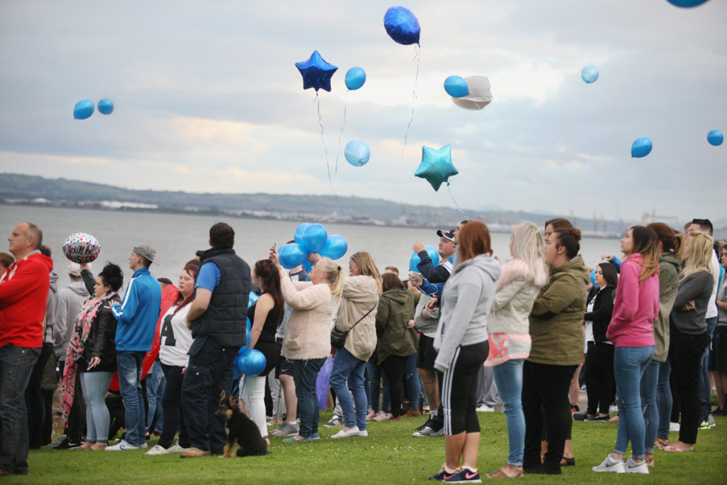 Friends of Alan gathered at Loughshore to remember the 21 year old
