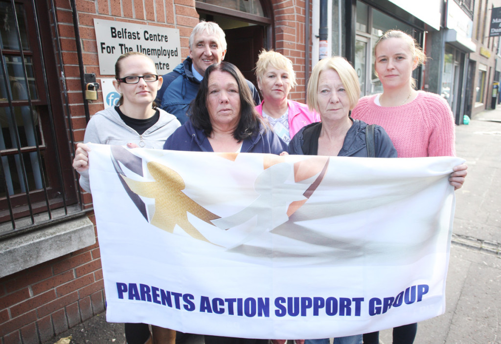 Annie Daly, front right, with other members of the Parent Action Support at the Belfast Unemployed Resource Centre in Donegall Street