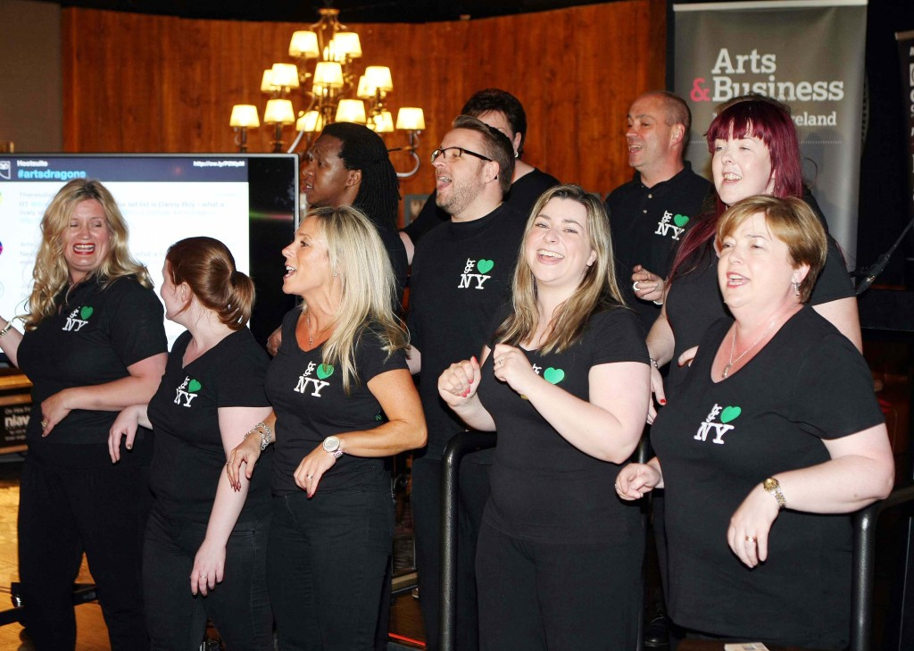 The Belfast Community Gospel Choir performing at the Arts Dragons even in Stix and Stones     Picture by Freddie Parkinson