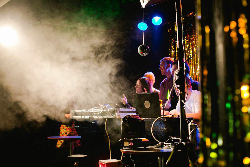 Black Moon DJs (who have learning difficulties themselves) perform a set at the popular Black Moon Club that's taking place as part of this year's Féile an Phobail.