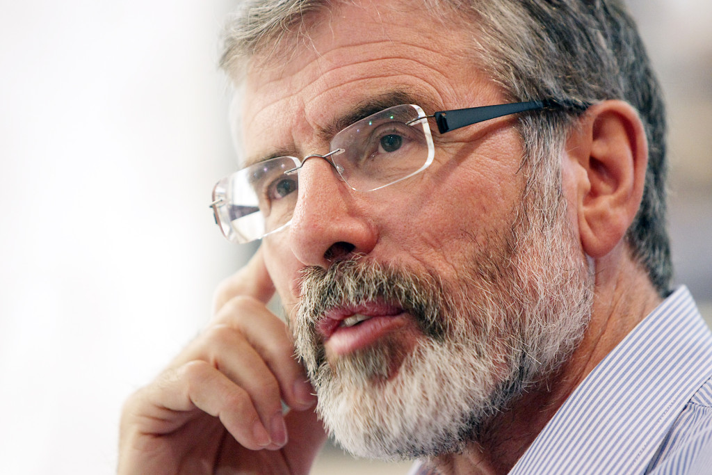 Gerry Adams on Saturday met an official from the Comptroller's office, which has in the past invested millions in Cerberus