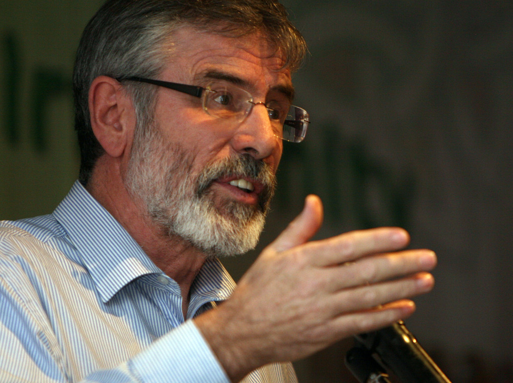 Gerry Adams says he's been the target of a sustained and malicious campaign