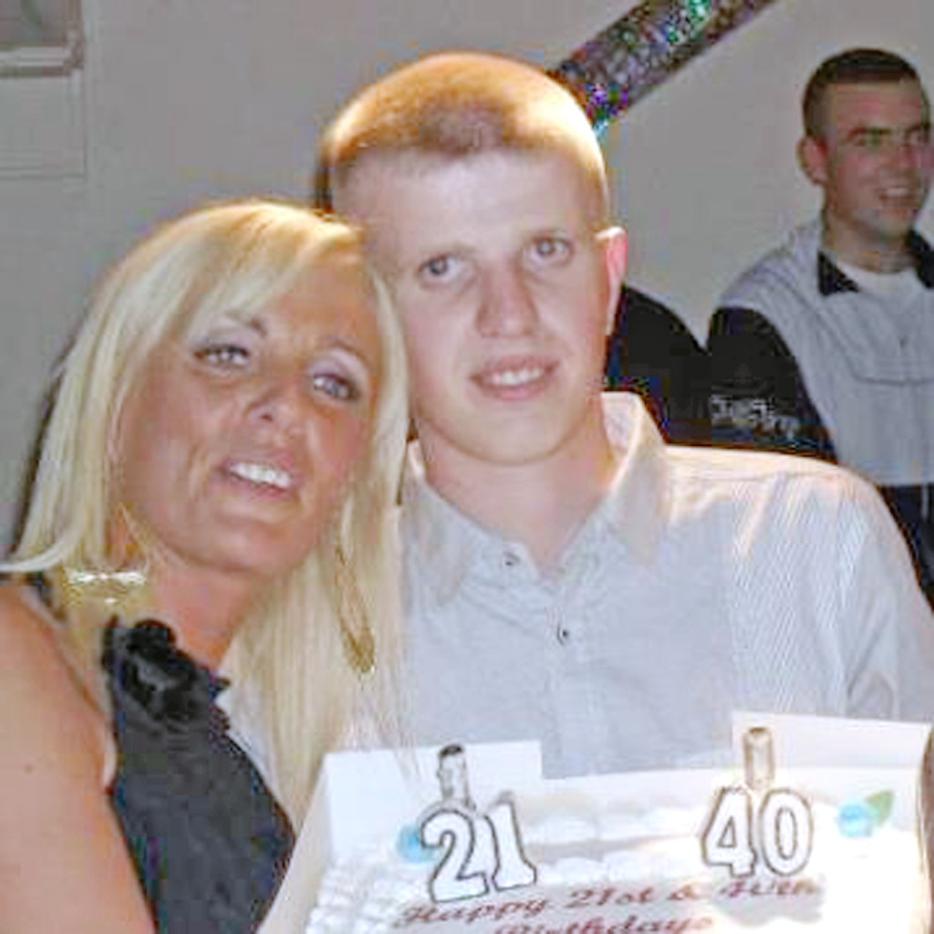 Tracy Carnahan with her late son Sean Paul, who died four months after trying to take his own life while under the influence of a 'legal high'