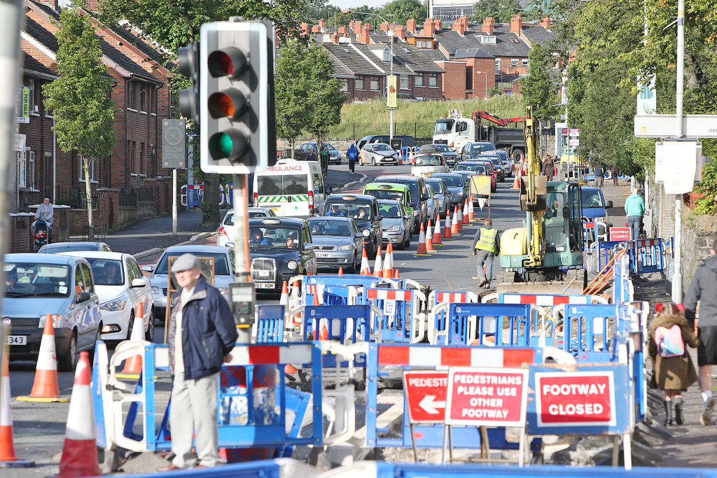 Gridlock as work continues on the new transport project – fears are that roads will be thrown into chaos because of the delay