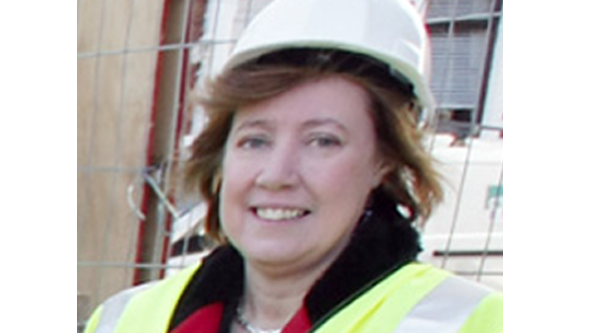As the Permanent Secretary of DCAL, Rosalie Flanagan was on the Falls Road for the beginning of work on the new Cultúrlann extension in 2010