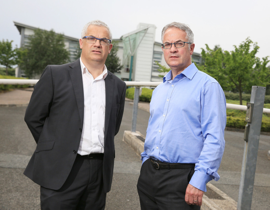 Brothers Tim (left) and Alex Attwood have thrown their weight behind Colum Eastwood in his bid for the SDLP leadership