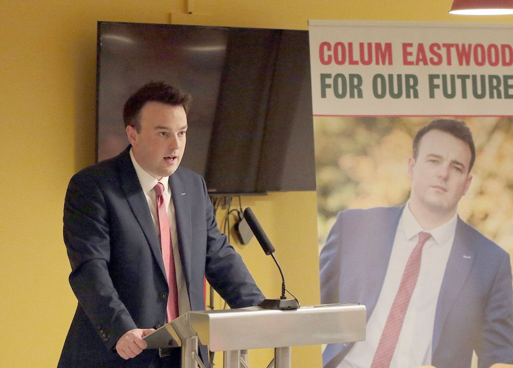 SDLP Leadership Launch at the Hive Belfast - Colum Eastwood Tues 2210JHC15