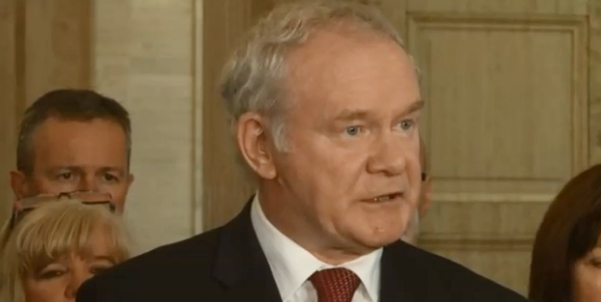Deputy First Minister Martin McGuinness speaking at Stormont yesterday after the release of the report