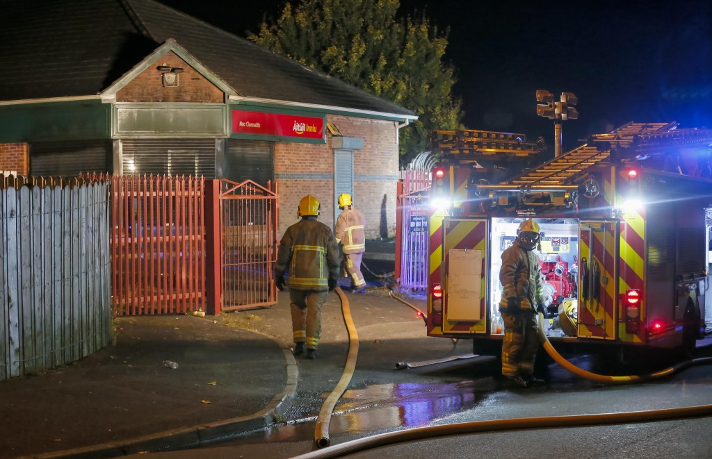 Firefighters were called to extinguish a blaze at a derelict pub on Saturday evening Picture - Kevin Scott  / Presseye