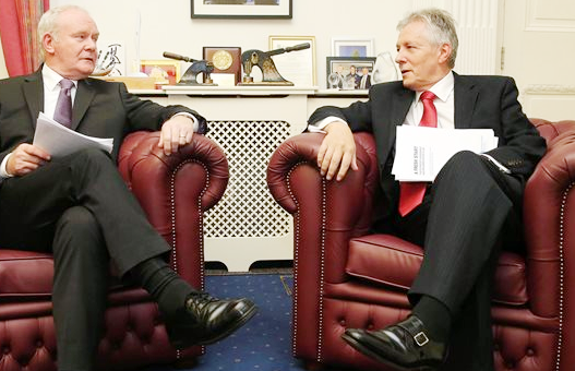 Peter Robinson is already gone and questions are being asked about Martin McGuinness's age