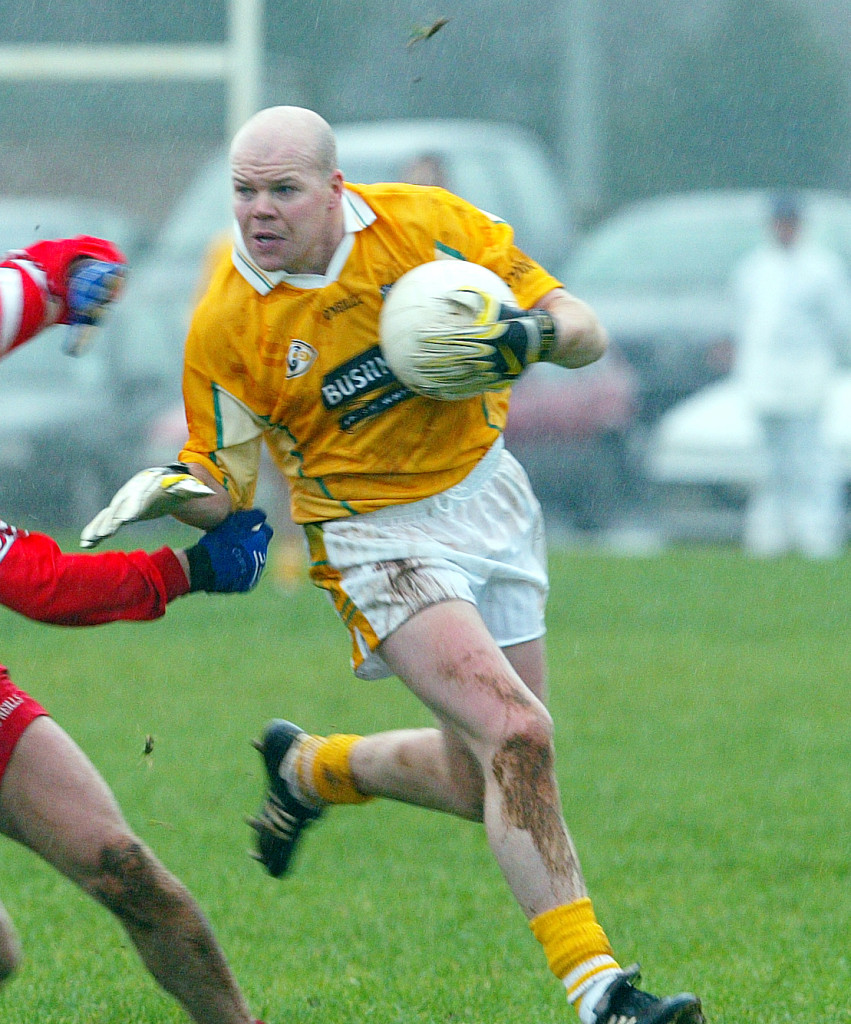 Anto Finnegan in action for Antrim