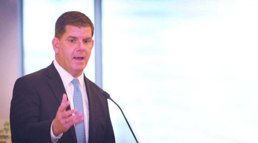 Boston Mayor Marty Walsh will address the Aisling Awards via video