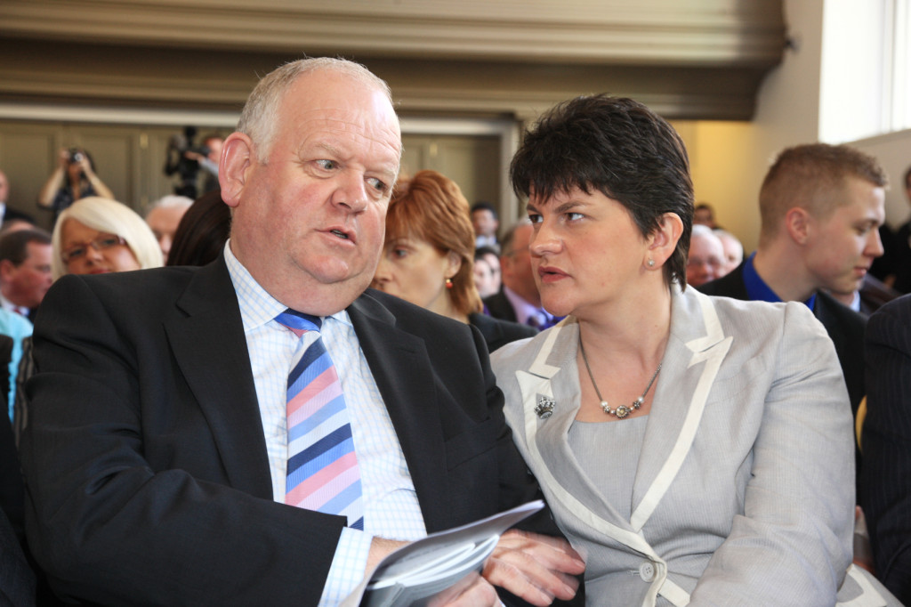 Arlene Foster with former South Belfast MLA Jimmy Spratt