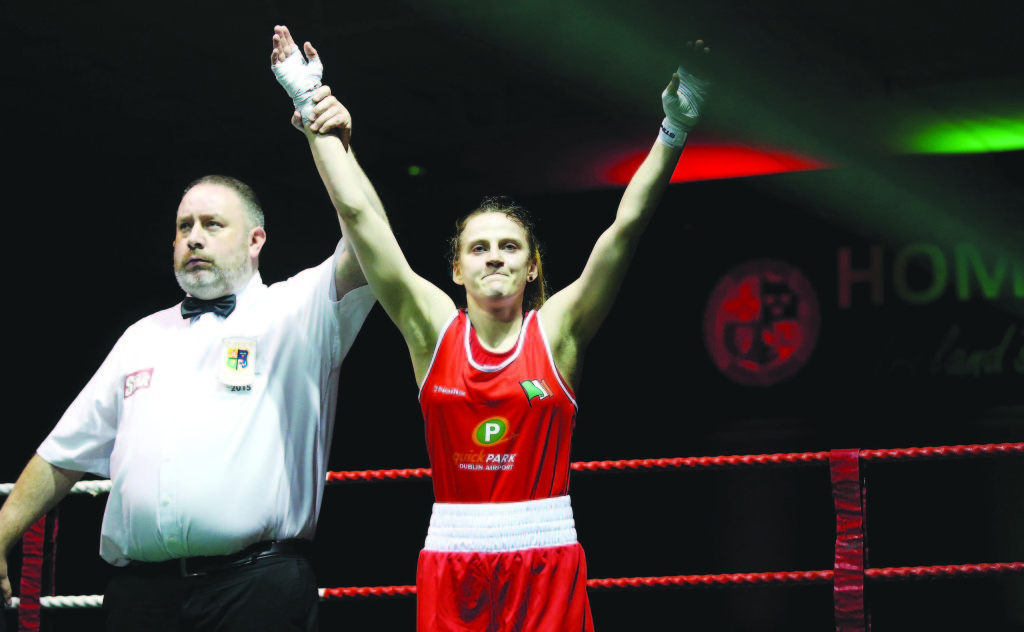 Michaela Walsh celebrates winning the 51KG title Mandatory Credit ©INPHO/Donall Farmer