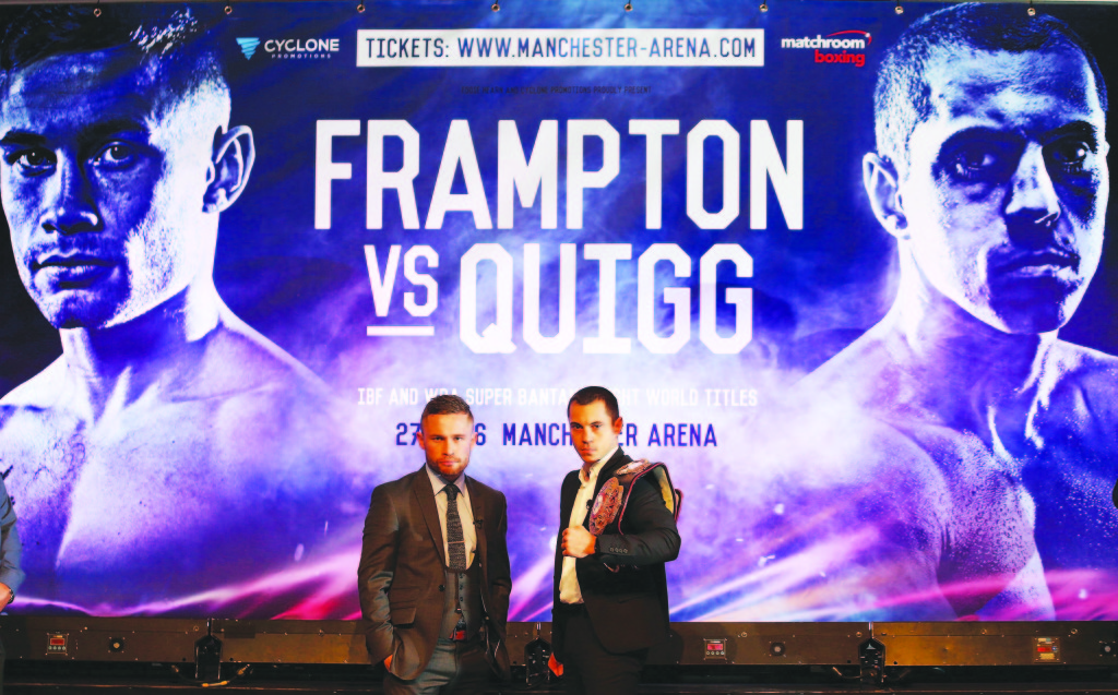 Carl Frampton and Scott Quigg's eagerly-anticipated showdown in Manchester on February 27 will be shown on Sky Box Office Mandatory Credit-Brian Little /Presseye/Cyclone Promotions