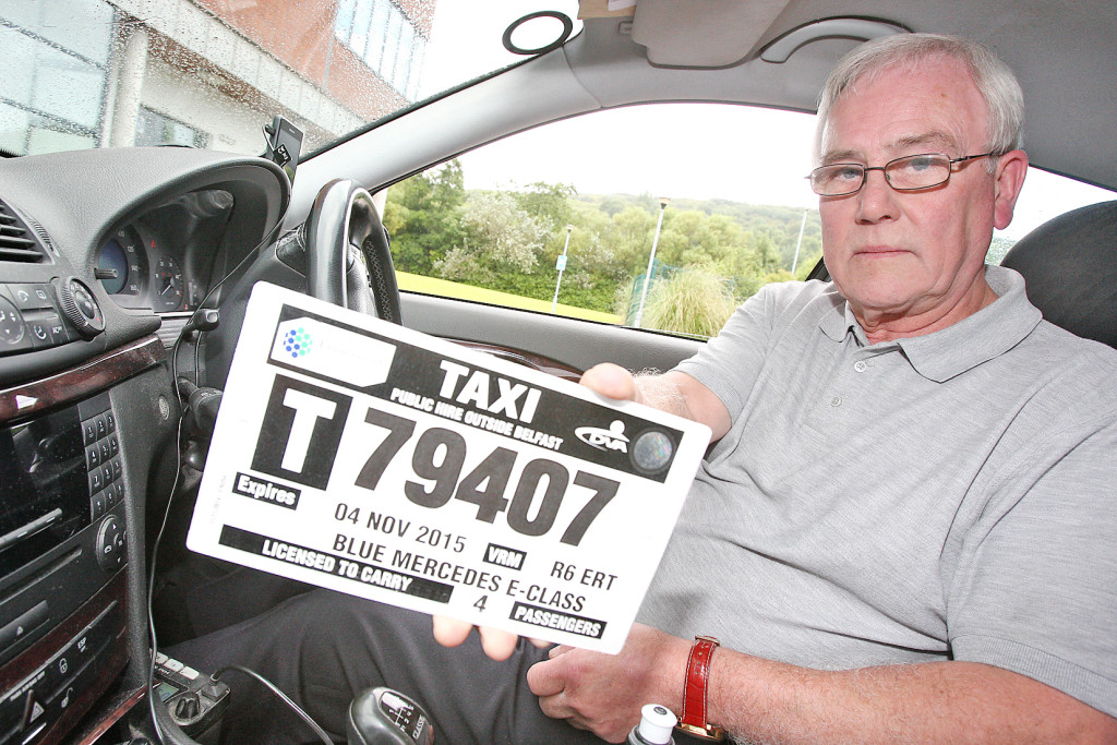 Belfast taxi man Robert Mateer is behind the campaign for an overhaul in the taxi industry
