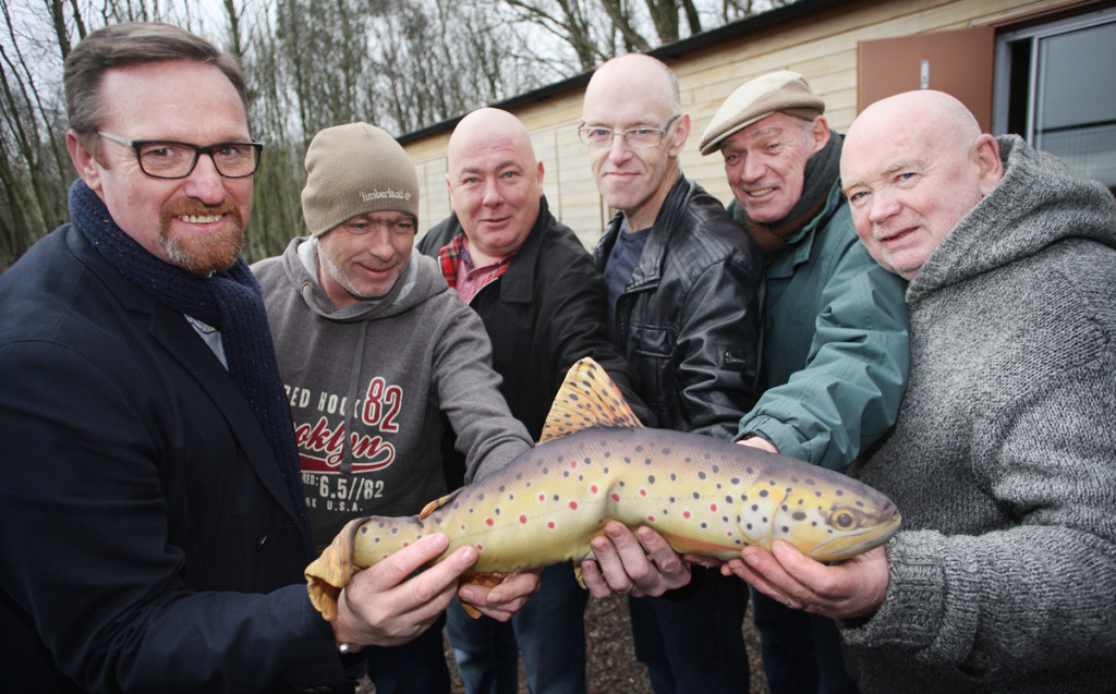 Gerry McCabe with anglers Michael and Edward Cassidy, Jim Devlin, Brian Henry and Andy Doherty
