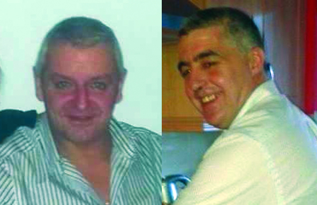 Patrick McDonnell (left) moved to North Carolina in 2011 while Jim Campbell had made his home in Downpatrick