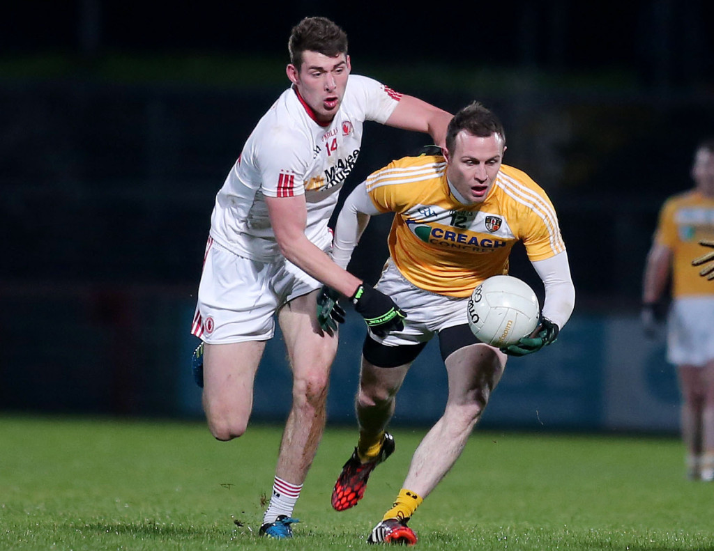 Antrim midfielder Michael McCann has emerged as a major doubt for Sunday's NFL clash with Leitrim after picking up a hamstring injury while playing for Cargin at the weekend.