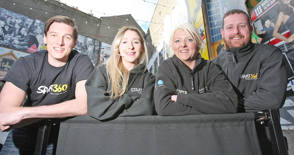 Ronan McGinley, Melissa Frame, Ciara Boyle and Chris Muir of Start360 are heading to Zambia in October to take on the Zambezi River challenge. 243mj16.