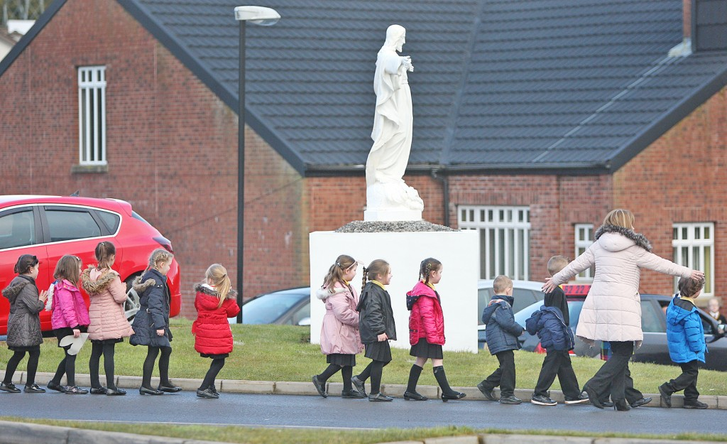 Christ the Redeemer pupils are evacuated during the security alert