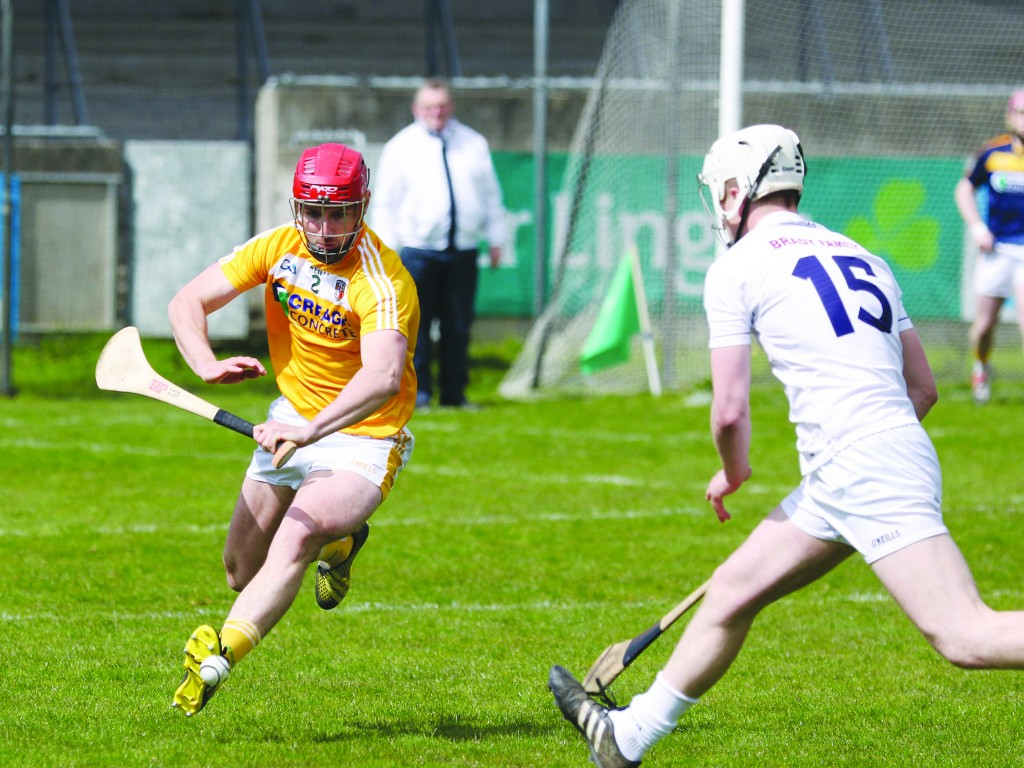 Simon McCrory was one of a couple of positional switches for Antrim at the weekend