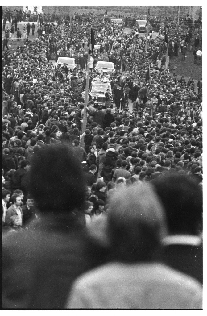 LOOKING BACK: The funeral of Bobby Sands in West Belfast in May 1981