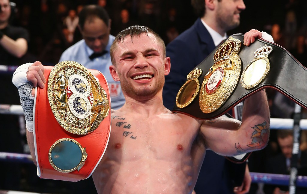 Carl Frampton will challenge Leo Santa Cruz for the WBA featherweight title at the Barclays Centre, Brooklyn in July 30