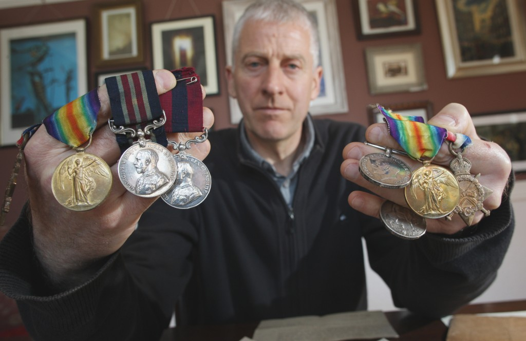 John Pelan stolen medals belonging to his grandfather and great uncle which were returned