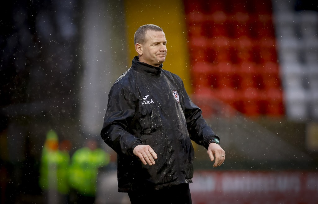 Sport and Leisure Swifts boss Pat McAllister has downplayed the chances of his side gaining promotion from Championship 2