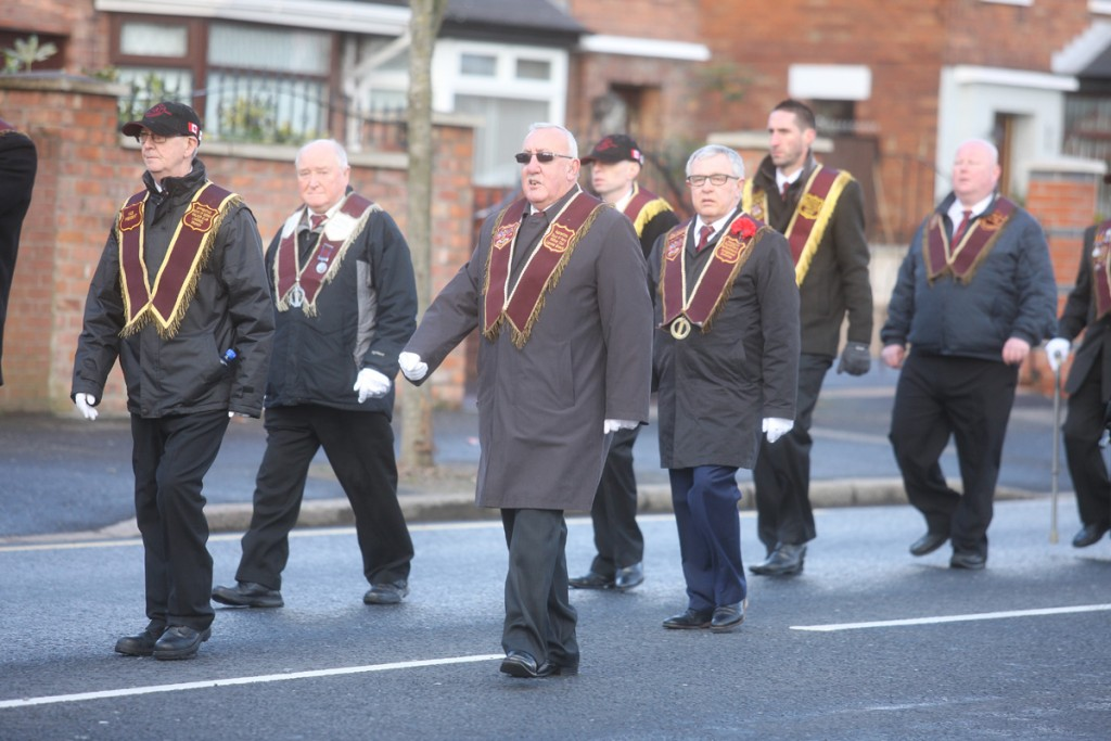 PEACEFUL DAY: Ligoniel Walkers Club marching on the Crumlin Road on Easter Monday