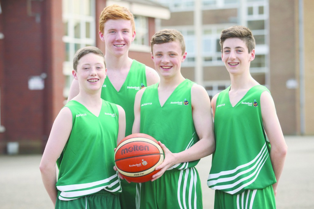 St Malachy's lads and Irish internationals Conor Ryan, Conor Cooke, Jack Summersgill and CJ Fulton