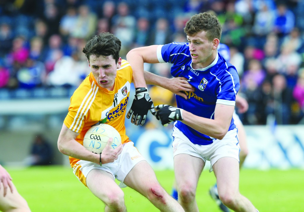Conor Small will be expected to lead the line for Antrim's minors on Sunday